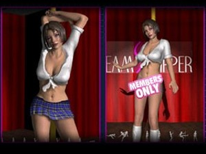 3D Virtual Strippers - XXX danse poteau