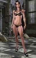 Somavision virtual fille bikini noir